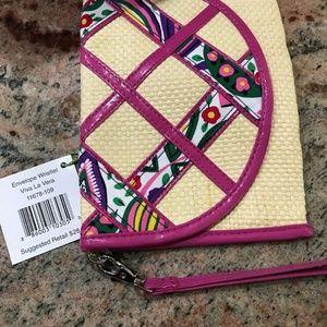 Vera Bradley Envelope Wristlet Clutch Viva La Vera
